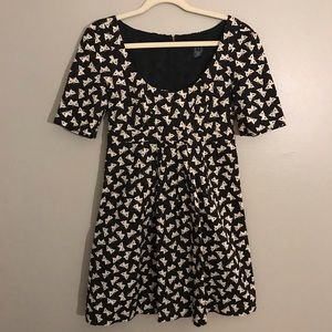 French Connection Butterfly  high waist mini dress